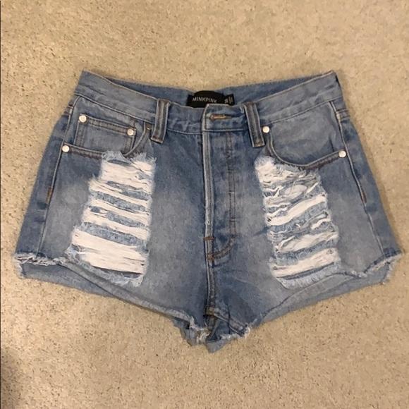 MINKPINK Pants - Mink pink high waisted shorts